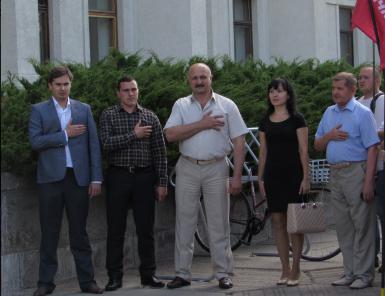 Костянтин Іщейкін, Олександр Колесников, Петро Ворона (зліва)